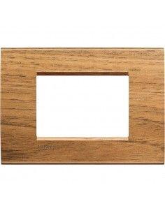 LivingLight - placca Essenze quadra in legno massello 3 posti noce nazionale