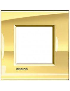 BTicino LNA4802OA LivingLight - placca 2 moduli oro freddo