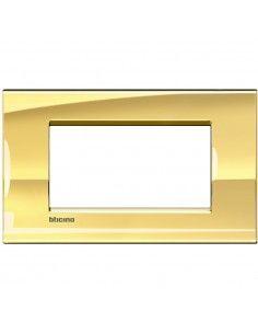 BTicino LNA4804OA LivingLight - placca 4 moduli oro freddo