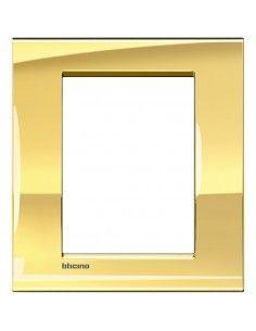 BTicino LNA4826OA LivingLight - placca 3+3 moduli oro freddo