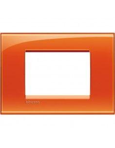 BTicino LNA4803OD LivingLight - placca 3 moduli arancio