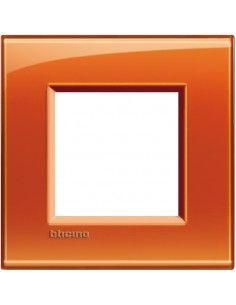 BTicino LNA4802OD LivingLight - placca 2 moduli arancio