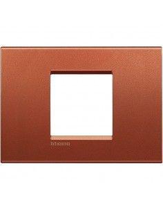 BTicino LNA4819RK LivingLight - placca 2 moduli centrati brick