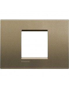 BTicino LNA4819SQ LivingLight - placca 2 moduli centrati square