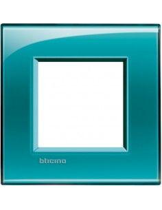 BTicino LNA4802VD LivingLight - placca 2 moduli verde