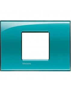BTicino LNA4819VD LivingLight - placca 2 moduli centrati verde