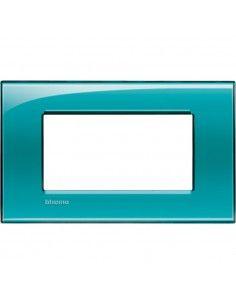 BTicino LNA4804VD LivingLight - placca 4 moduli verde