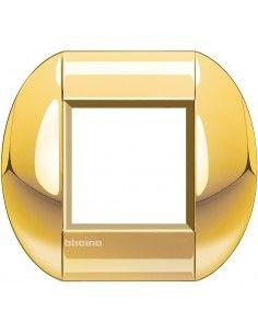 BTicino LNB4802OC LivingLight - placca 2 moduli oro