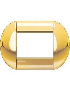 BTicino LNB4803OC LivingLight - placca 3 moduli oro