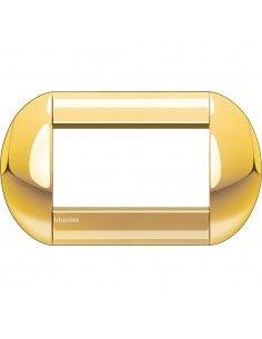 BTicino LNB4804OC LivingLight - placca 4 moduli oro