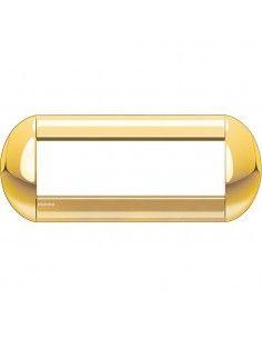 BTicino LNB4807OC LivingLight - placca 7 moduli oro