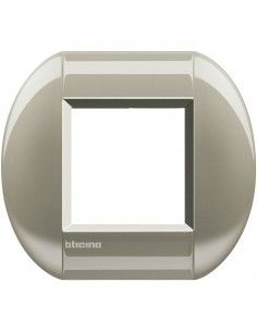 BTicino LNB4802TC LivingLight - placca 2 moduli titanio