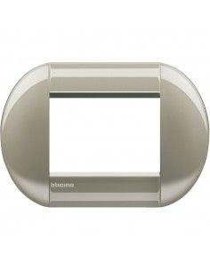BTicino LNB4803TC LivingLight - placca 3 moduli titanio