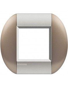 BTicino LNB4802TB LivingLight - placca 2 moduli bronze
