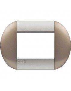 BTicino LNB4803TB LivingLight - placca 3 moduli bronze