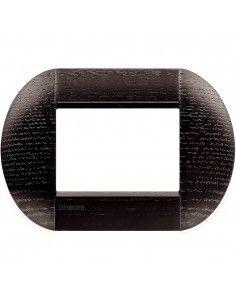 BTicino LNB4803LRW LivingLight - placca 3 moduli rovere scuro