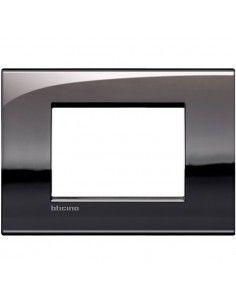BTicino LNC4803PT LivingLight Air - placca 3 moduli peltro