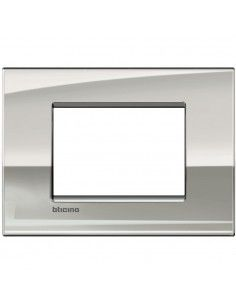 BTicino LNC4803PL LivingLight Air - placca 3 moduli palladio