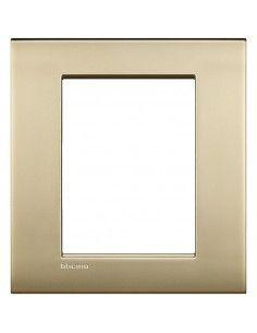 BTicino LNC4826OF LivingLight Air - placca 3+3 moduli oro satinato