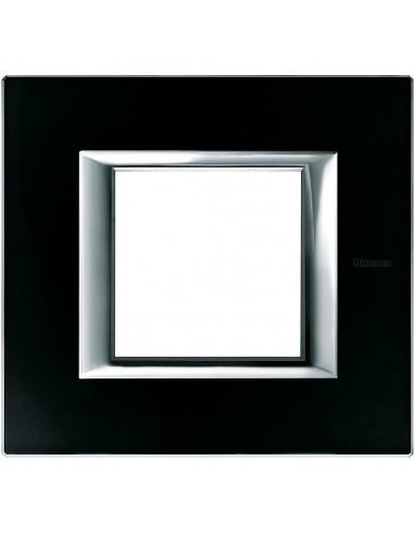 BTicino HA4802VNN Axolute - placca 2 moduli colore vetro nero notte