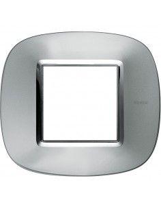 Axolute - placca ellittica Metallizzati in metallo 3 posti colore alluminio axolute