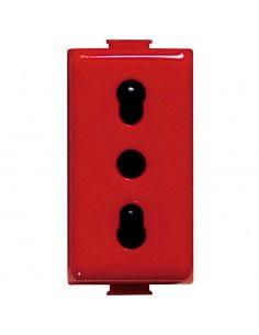 BTicino A5180R Matix - presa standard Italia colore rosso