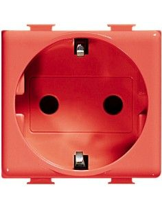 BTicino A5440/2NR Matix - presa standard tedesca colore rosso