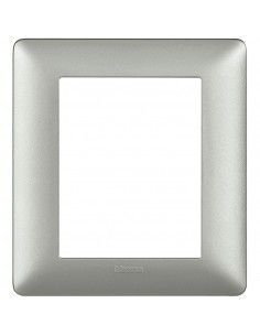 BTicino AM4826MSL Matix - placca 3+3 moduli silver