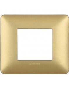 BTicino AM4802MGL Matix - placca 2 moduli gold