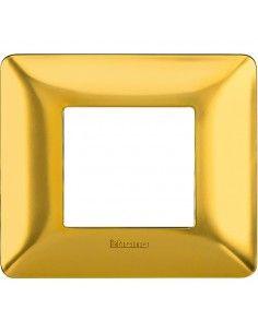 BTicino AM4802GOS Matix - placca 2 moduli oro satinato