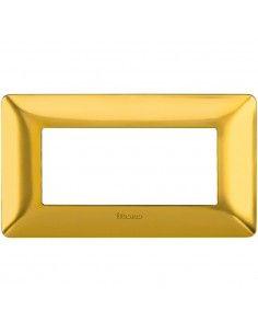 BTicino AM4804GOS Matix - placca 4 moduli oro satinato