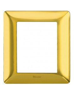BTicino AM4826GOS Matix - placca 3+3 moduli oro satinato