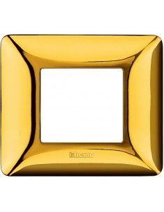 BTicino AM4802GOR Matix - placca 2 moduli oro lucido