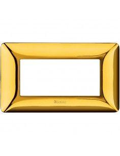 BTicino AM4804GOR Matix - placca 4 moduli oro lucido
