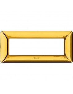 BTicino AM4806GOR Matix - placca 6 moduli oro lucido
