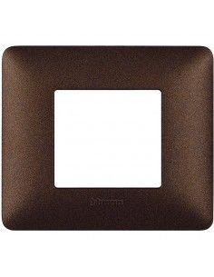 BTicino AM4802TGG Matix - placca 2 moduli marrone caffè