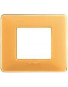 BTicino AM4802CAB Matix - placca 2 moduli ambra
