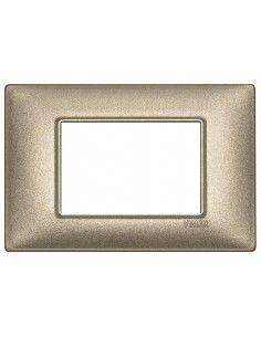 Vimar 14653.70 Plana - placca 3 moduli bronzo metallizzato