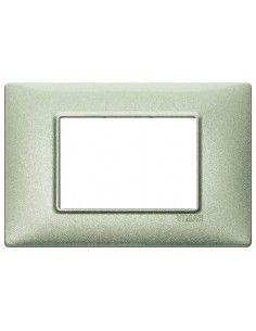 Vimar 14653.72 Plana - placca 3 moduli verde metallizzato