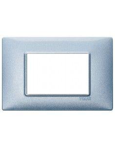 Vimar 14653.73 Plana - placca 3 moduli blu metallizzato