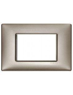 Vimar 14653.74 Plana - placca 3 moduli nichel perlato