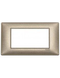 Vimar 14654.70 Plana - placca 4 moduli bronzo metallizzato