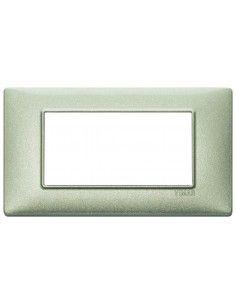 Vimar 14654.72 Plana - placca 4 moduli verde metallizzato