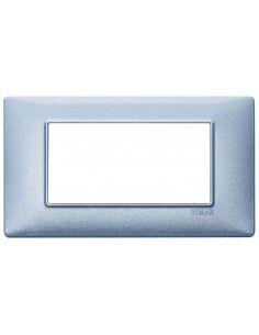 Vimar 14654.73 Plana - placca 4 moduli blu metallizzato