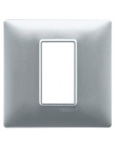 Vimar 14641.20 Plana - placca 1 modulo argento opaco