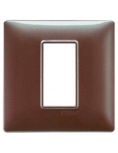 Vimar 14641.23 Plana - placca 1 modulo marrone micalizzato
