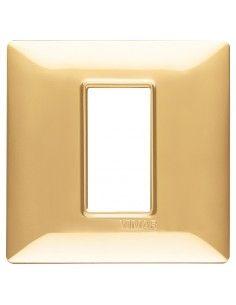 Vimar 14641.24 Plana - placca 1 modulo oro lucido