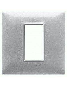 Vimar 14641.71 Plana - placca 1 modulo argento metallizzato