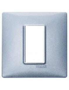 Vimar 14641.73 Plana - placca 1 modulo blu metallizzato