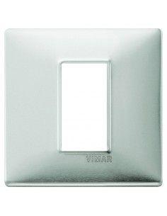 Vimar 14641.81 Plana - placca 1 modulo alluminio spazzolato